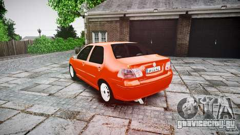 Fiat Albea Sole для GTA 4 вид сзади слева