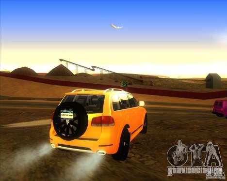 Volkswagen Touareg R50 для GTA San Andreas вид сзади слева
