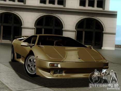 Lamborghini Diablo VT 1995 V3.0 для GTA San Andreas двигатель