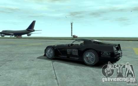 Dodge Viper Competition Coupe для GTA 4 вид справа