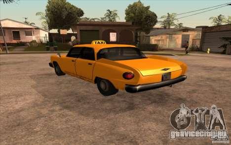Glendale Cabbie для GTA San Andreas вид слева