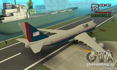 Самолёт из GTA 4 Boeing 747 для GTA San Andreas вид слева