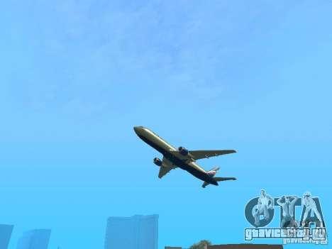 Boeing 767-300 Aeroflot для GTA San Andreas вид сзади