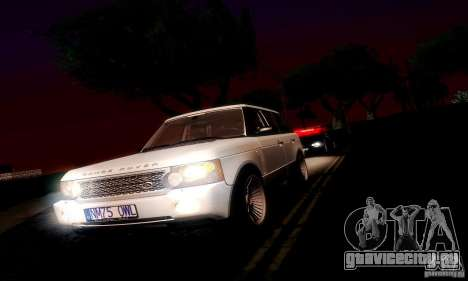 Range Rover Supercharged для GTA San Andreas вид сзади