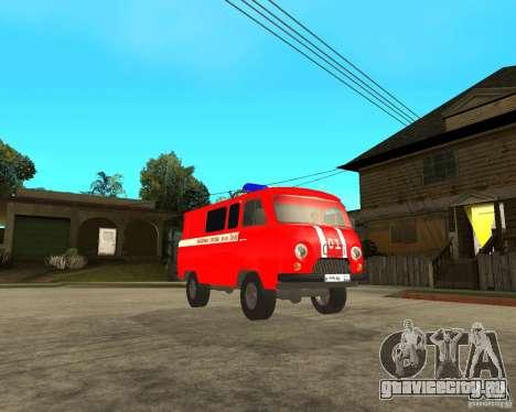 УАЗ Пожарка для GTA San Andreas вид сзади