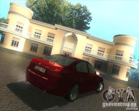 BMW 3 Series F30 2012 для GTA San Andreas вид справа