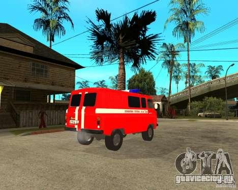 УАЗ Пожарка для GTA San Andreas вид справа