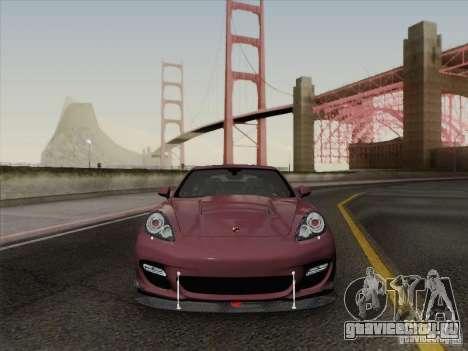 Porsche Panamera Turbo 2010 для GTA San Andreas вид снизу
