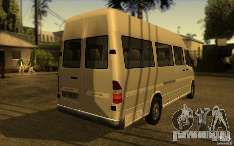 Mercedes Benz Sprinter 315 CDI для GTA San Andreas вид сзади слева