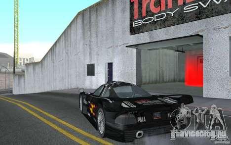 Mercedes-Benz CLK GTR road version (v2.0.0) для GTA San Andreas вид сзади слева