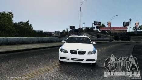 NYPD BMW 350i для GTA 4 вид сзади