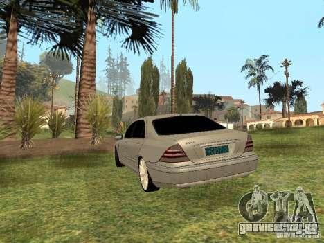 Mercedes-Benz S600 w200 для GTA San Andreas вид слева