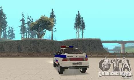 ВАЗ 2110 ДПС для GTA San Andreas вид слева