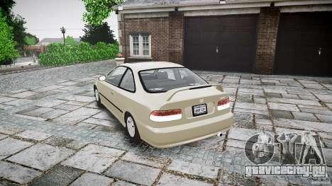 Honda Civic Coupe для GTA 4 вид сбоку