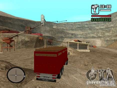 Ford Cargo 3227 для GTA San Andreas вид сзади слева