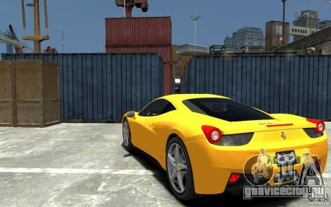 Ferrari 458 Italia 2010 v3.0 для GTA 4 вид сзади слева