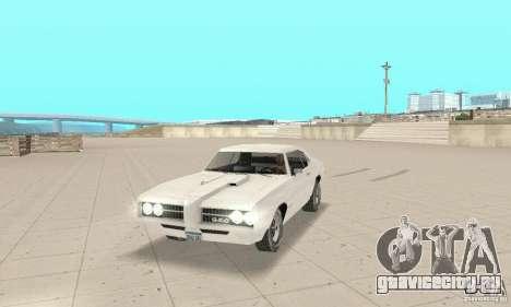Pontiac GTO 1969 stock для GTA San Andreas