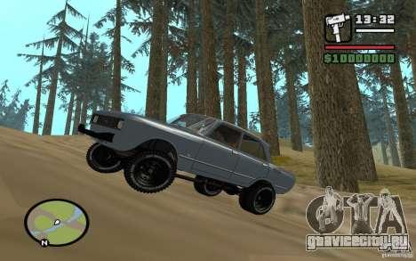 AZLK-2140 4x4 для GTA San Andreas вид сзади слева
