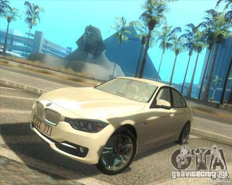 BMW 3 Series F30 2012 для GTA San Andreas вид слева