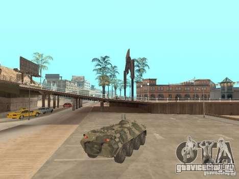 BTR 80 для GTA San Andreas вид сзади слева