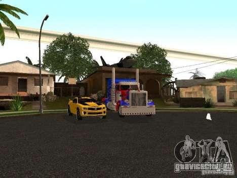 Peterbilt 379 Optimus Prime для GTA San Andreas вид снизу