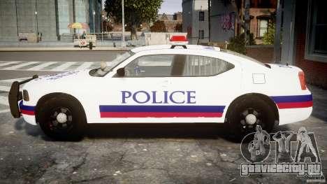 Dodge Charger Karachi City Police Dept Car [ELS] для GTA 4 вид слева