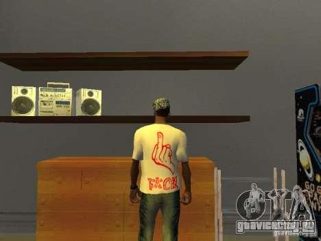 Футболка Gangsta для GTA San Andreas второй скриншот