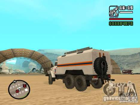 Урал 4320 МЧС для GTA San Andreas вид сбоку