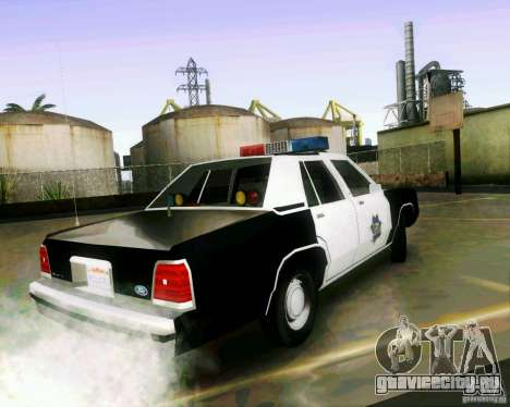 Ford Crown Victoria LTD 1991 SFPD для GTA San Andreas вид слева