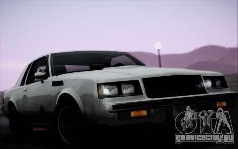 Buick GNX 1987 для GTA San Andreas вид сбоку