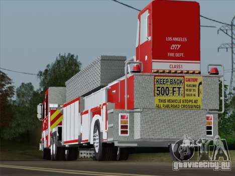 Pierce Arrow XT LAFD Tiller Ladder Trailer для GTA San Andreas вид снизу