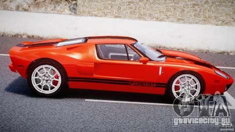 Ford GT 2006 v1.0 для GTA 4 вид изнутри