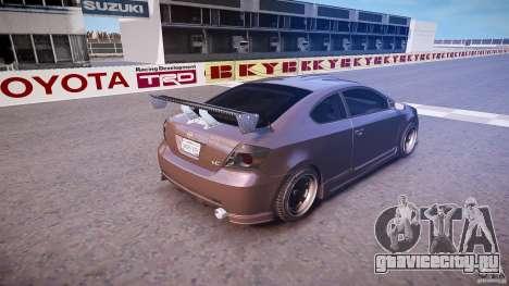 Toyota Scion TC 2.4 Tuning Edition для GTA 4 вид сверху
