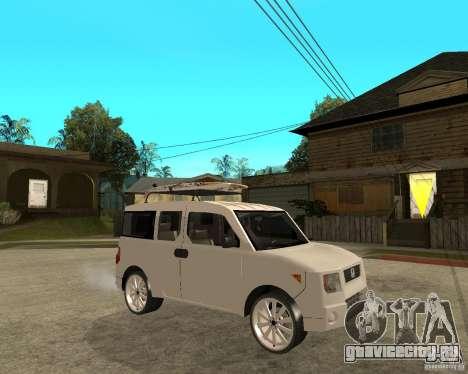 Honda Element для GTA San Andreas вид справа