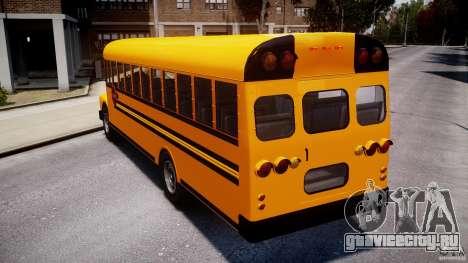School Bus [Beta] для GTA 4 вид сзади слева