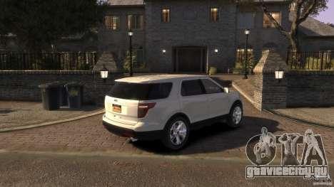 Ford Explorer 2011 для GTA 4 вид слева