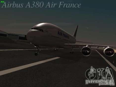 Airbus A380-800 Air France для GTA San Andreas вид слева