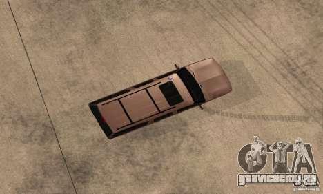 Chevrolet Suburban для GTA San Andreas вид сзади