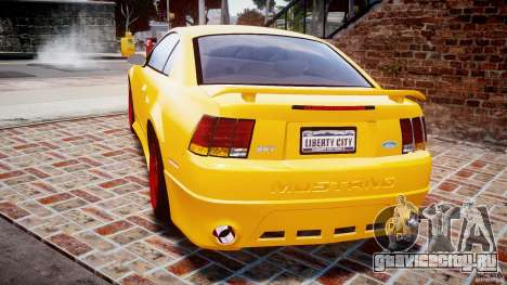 Ford Mustang SVT Cobra v1.0 для GTA 4 вид сзади слева