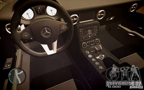 Mercedes-Benz SLS63 AMG для GTA 4 вид сзади слева
