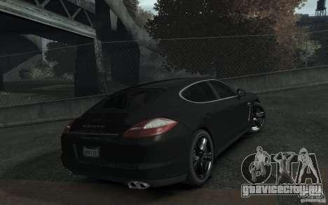 Porsche Panamera Turbo для GTA 4 вид сзади