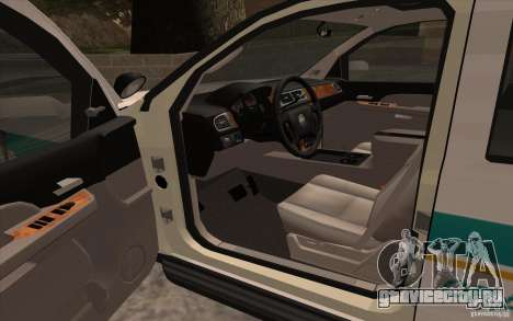 Chevrolet Avalanche Orange County Sheriff для GTA San Andreas вид справа