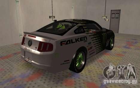 Ford Mustang GT Falken Monster 2010 v2.0 для GTA San Andreas вид сзади слева