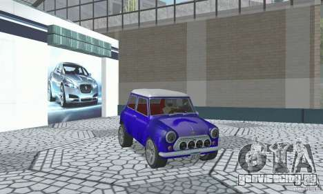 Mini Cooper S для GTA San Andreas вид изнутри