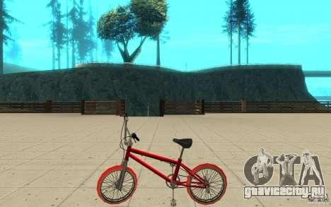 Zeros BMX RED tires для GTA San Andreas вид слева