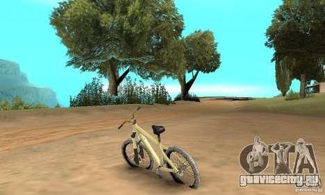 Specialized P.3 Mountain Bike v 0.8 для GTA San Andreas вид сзади слева