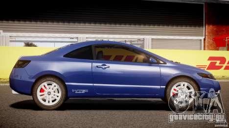 Honda Civic Si Coupe 2006 v1.0 для GTA 4 вид изнутри
