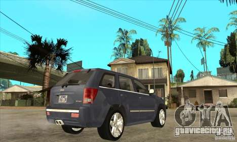 Jeep Grand Cherokee SRT8 v2.0 для GTA San Andreas вид справа