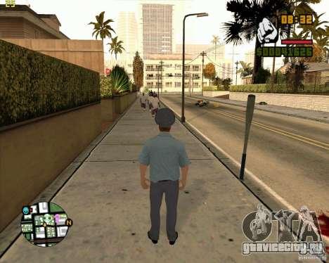 Скин русского милиционера для GTA San Andreas четвёртый скриншот