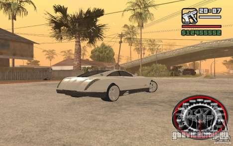 Maybach Exelero для GTA San Andreas вид сзади слева